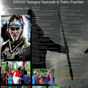 calendario della rassegna nazionale del teatro popolare.