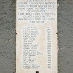 Lapide coi nomi degli uomini trucidati a Cervarolo