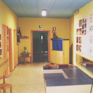 L'interno della scuola dell'infanzia di Case Bagatti