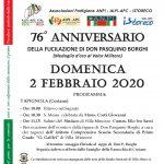 Locandina 76° anniversario Don P. Borghi