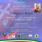 Locandina commemorazione Domenico Bondi