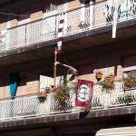 Striscioni e bandiere granata a Villa Minozzo
