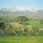 Il Cusna visto  dalla Val d'Asta