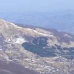 Il monte Prampa visto dalla vetta del Cusna