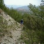 in mountain bike lungo i sentieri
