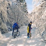 mountain bike in inverno
