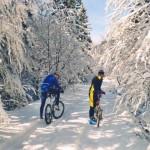 mountain bike in inverno